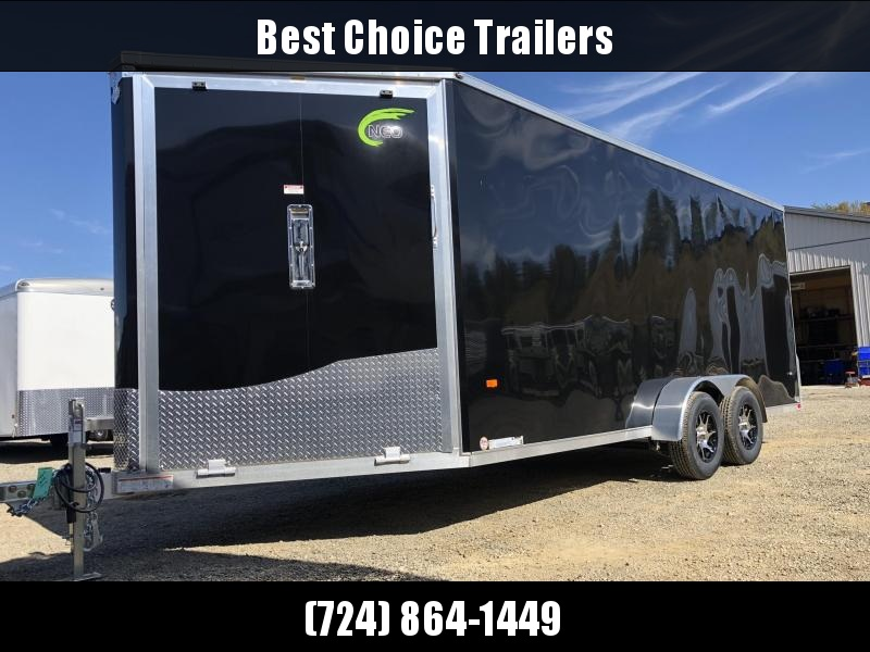 2020 Neo 7x22' Aluminum Enclosed All-Sport Trailer * 7' HEIGHT - UTV PKG * BLACK * FRONT RAMP * LOADED * UTV * ATV * Motorcycle * Snowmobile