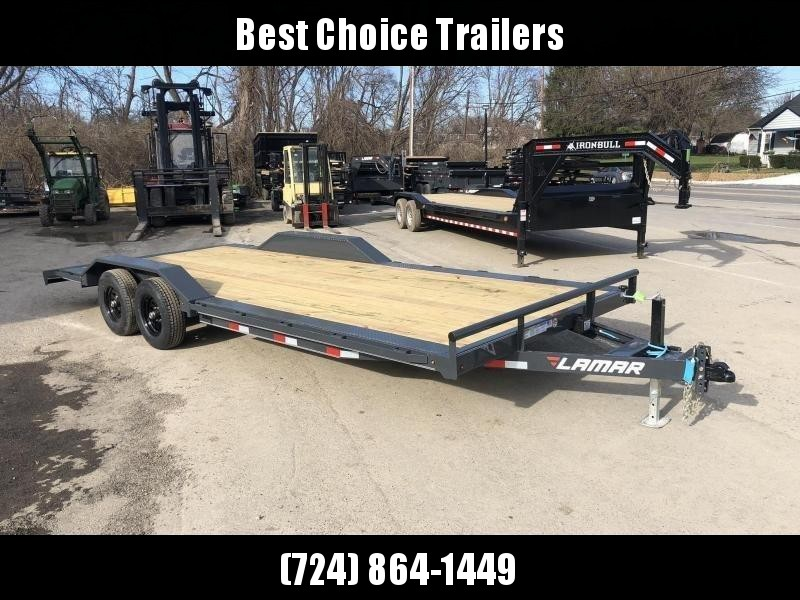 "2020 Lamar 102x20' CC10 Buggy Car Hauler Trailer 9990# GVW * 102"" DECK * DRIVE OVER FENDERS * CHARCOAL POWDERCOATING * 7K DROP LEG JACK * ADJUSTABLE COUPLER * RUBRAIL"