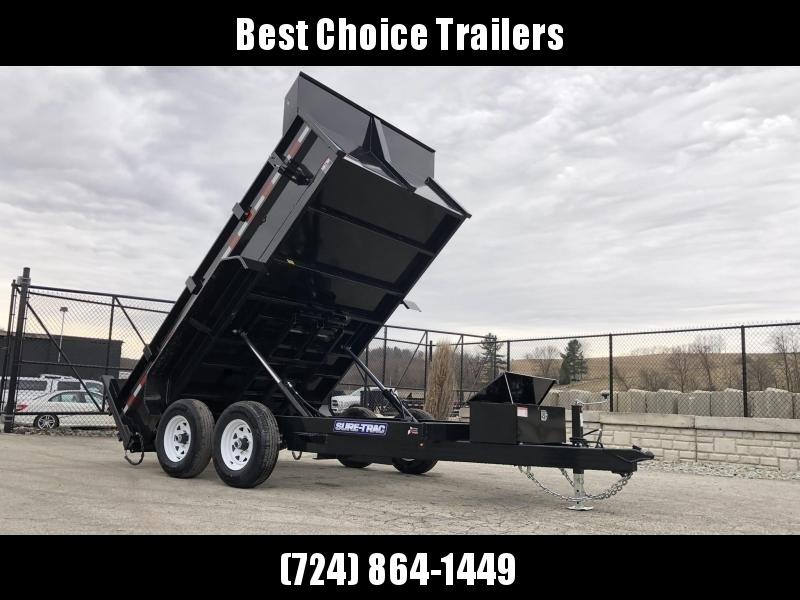 2020 Sure-Trac 7x12' Low Pro Dump Trailer 12000# * DUAL PISTON * FRONT/REAR BULKHEAD * 2' SIDES * COMBO GATE * UNDERMOUNT RAMPS * INTEGRATED BODY STIFFNER