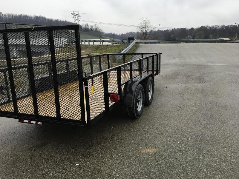 "2020 AMO 76""x14' Mesh High Side Angle Iron Utility Landscape Trailer 7000# GVW"