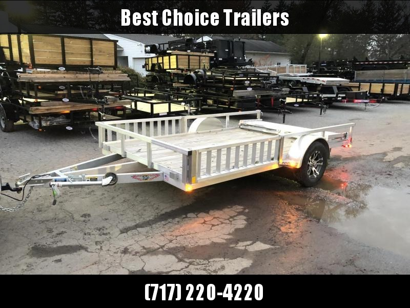 2020 H&H 7x14' RSAV Aluminum ATV Utility Landscape Trailer 2990# GVW * BI FOLD GATE * ALUMINUM WHEELS * ATV SIDE RAMPS