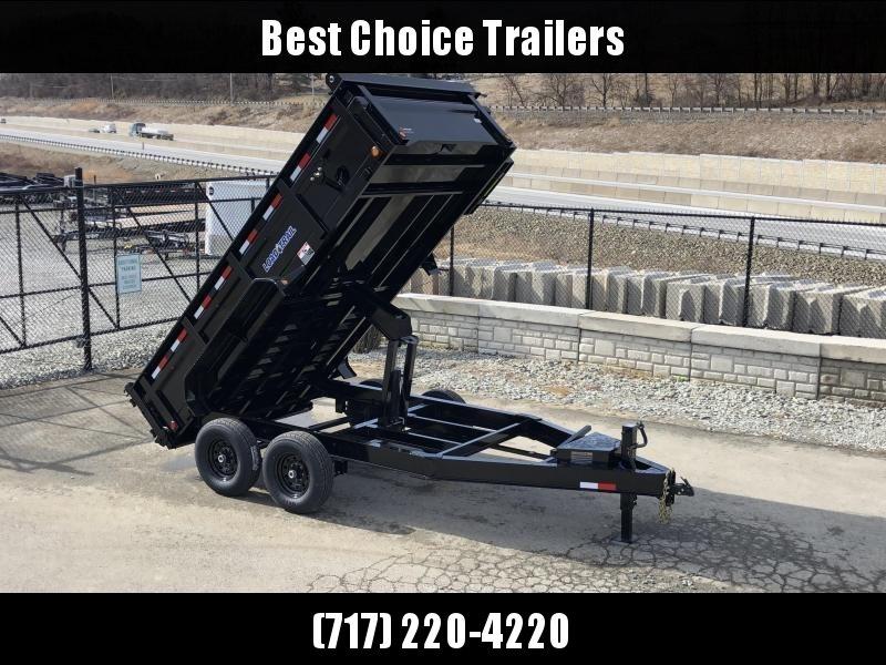 """2020 Load Trail 7x14' Dump Trailer 14000# GVW * DT8314072 * SOLAR * 8"""" I-BEAM FRAME * 3-WAY GATE * TARP KIT * SCISSOR HOIST * 10GA 2PC SIDES & FLOOR * 6"""" TUBE BED FRAME * 110V CHARGER * DEXTER'S * CLEARANCE"""