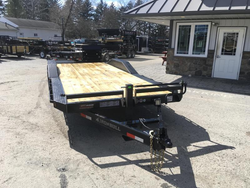 "2019 Ironbull 102""x24' Wood Deck Car Trailer 14000# GVW * 8"" FRAME UPGRADE * FULL WIDTH RAMPS * 102"" DECK * DRIVE OVER FENDERS * BUGGY HAULER"