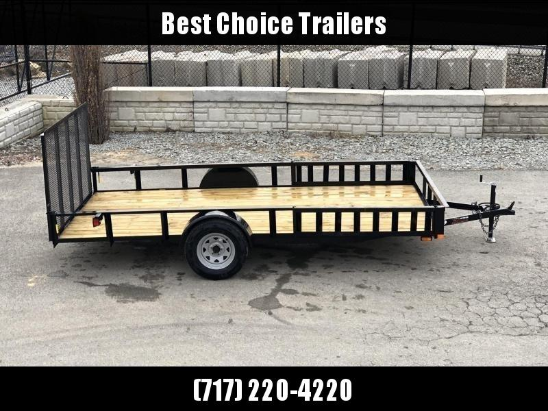 2020 AMO 7x12' Angle Iron Utility Landscape Trailer 2990# GVW w/ Gate * ATV RAMPS * FULL WRAP TONGUE * ALL LED LIGHTS * CLEARANCE