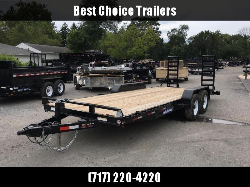 NEW Sure-Trac 7x16' Equipment Trailer 9900# GVW * STAND UP RAMPS+SPRING ASSIST * RUBRAIL/STAKE POCKETS/D-RINGS * HD FENDERS * SPARE MOUNT * SEALED HARNESS * CLEARANCE