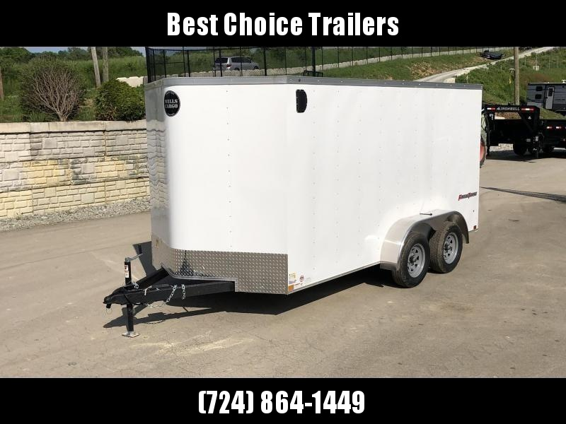 """2020 Wells Cargo 7x14' Fastrac Enclosed Cargo Trailer 7000# GVW * WHITE EXTERIOR * RAMP DOOR * V-NOSE * 1 PC ROOF * 16"""" O.C. WALLS * BULLET LED'S"""