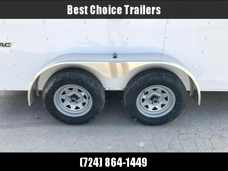 2020 Wells Cargo 7x14' Fastrac Enclosed Cargo Trailer 7000# GVW * WHITE * RAMP DOOR * V-NOSE