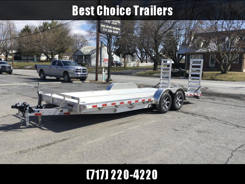 "2018 H&H 102x20' HDA Aluminum Equipment Trailer 9990# GVW * 102"" DECK OUTRIGGERS * EXTRUDED ALUMINUM FLOOR * TORSION * SWIVEL D-RINGS * EXTRA STAKE POCKETS * CLEARANCE"