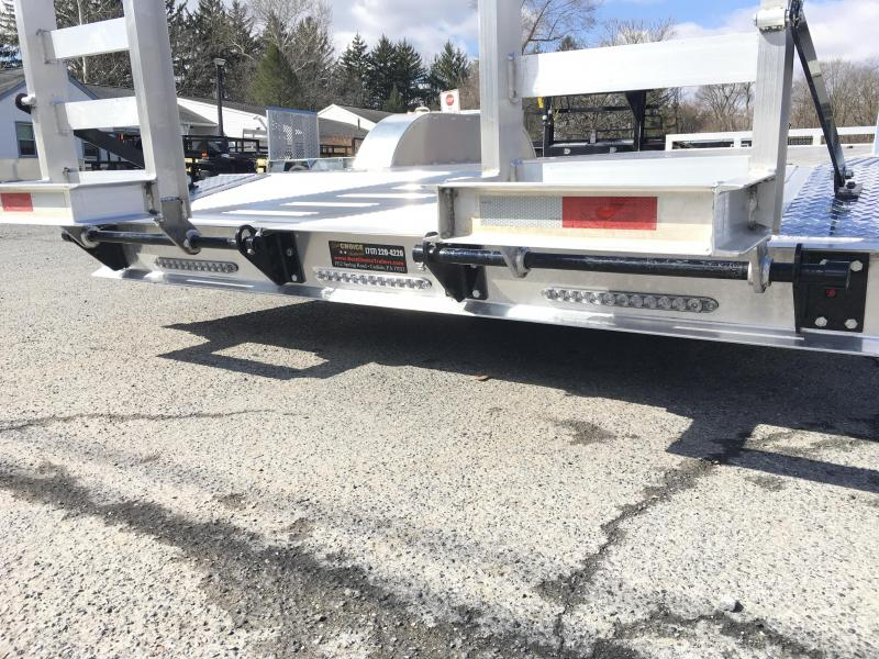"""NEW H&H 102x20' HDA Aluminum Equipment Trailer 9990# GVW * 102"""" DECK OUTRIGGERS * EXTRUDED ALUMINUM FLOOR * TORSION * SWIVEL D-RINGS * EXTRA STAKE POCKETS * CLEARANCE"""
