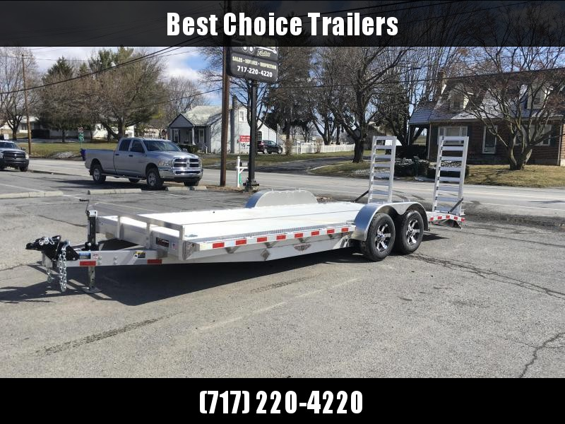 "NEW H&H 102x20' Aluminum Equipment Trailer 9990# GVW * 102"" DECK OUTRIGGERS * EXTRUDED ALUMINUM FLOOR * TORSION * SWIVEL D-RINGS * EXTRA STAKE POCKETS * CLEARANCE"