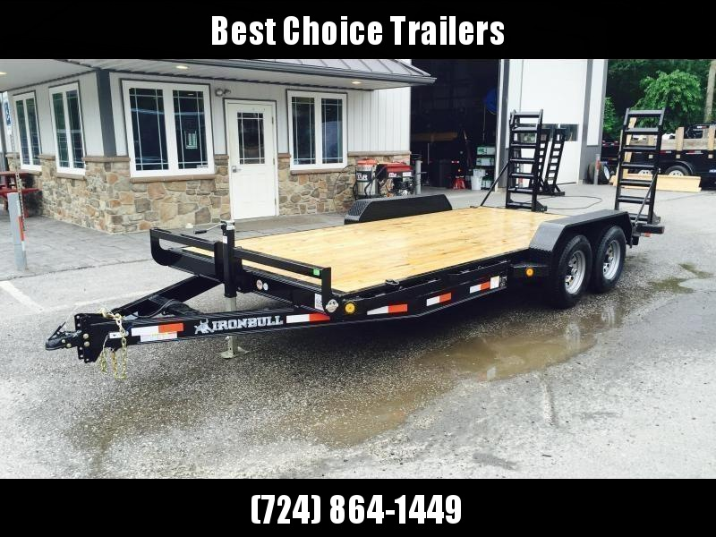 """2020 Ironbull 7x20' Equipment Trailer 9990# GVW * KNIFEEDGE RAMP W/ ADJUSTABLE SUPPORT * REMOVABLE FENDERS * 16"""" O.C. STRUCTURAL CHANNEL C/M * RUBRAIL/STAKE POCKETS/PIPE SPOOLS/D-RINGS * ADJUSTABLE CAST COUPLER * 7K JACK * DEXTER'S * 2-3-2 WARRANTY"""