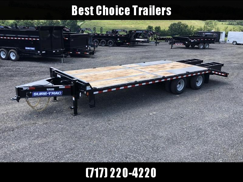 2019 Sure-Trac 102x20+5 Pintle Beavertail Deckover Trailer 22500# GVW * Pierced Frame OAK DECK & RAMPS PAVER TRAILER * HUTCH SUSPENSION * 12 D-RINGS * TOOLBOX * OAK RAMPS/TAIL/DECK * 2ND JACK * CLEARANCE