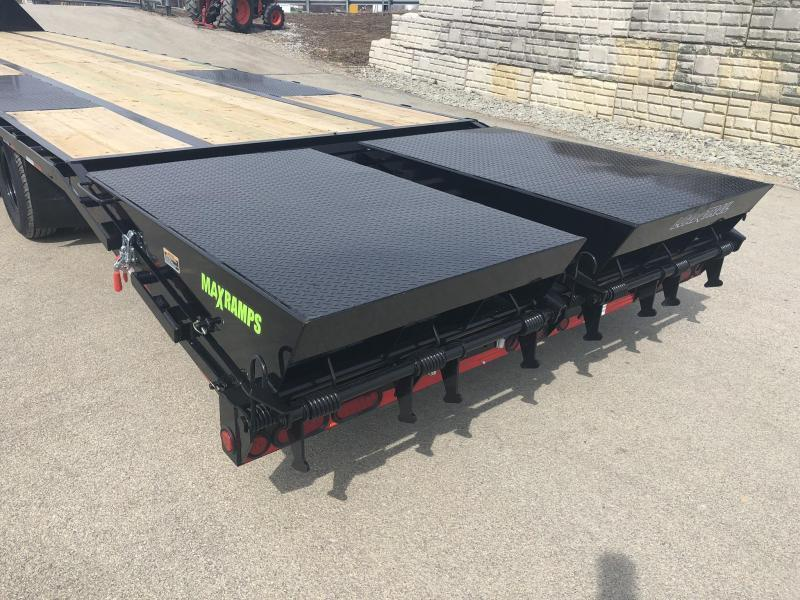 2020 Load Trail 102x28' Gooseneck Beavertail Deckover Flatbed 25990# Trailer * GP0228122 * DEXTER 12K AXLES * EOH DISC BRAKES * MAX Ramps * HDSS Suspension
