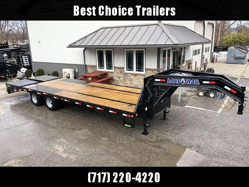 "2020 Load Trail 102x28' Gooseneck Beavertail Deckover Trailer 25990# GVW * FULL WIDTH RAMPS (STAND UP OR FLIPOVER) * DEXTER 12K AXKES * EOH DISC BRAKES * HDSS SUSPENSION * SPARE TIRE * 12""/22#  I-BEAM FRAME *PIERCED FRAME * PRIMER * 2-3-2 WARRANTY"