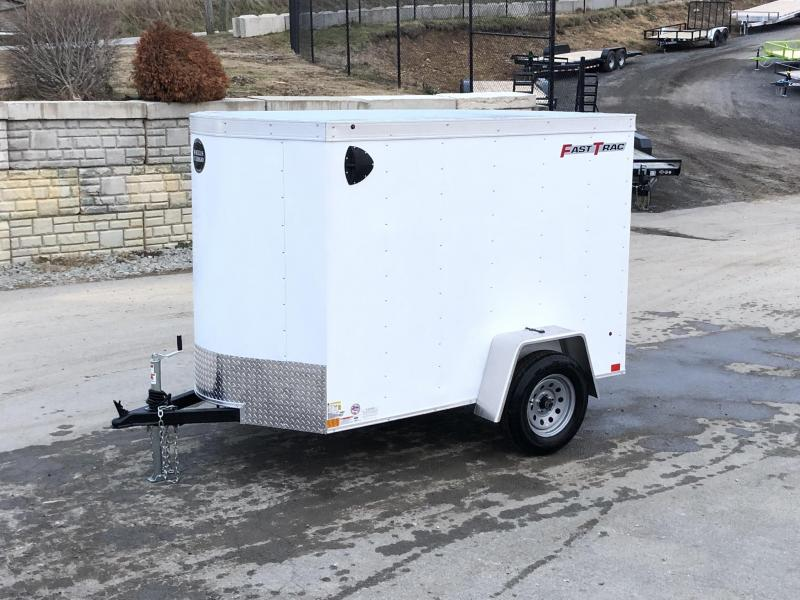 2020 Wells Cargo 5x8' Fastrac Enclosed Cargo Trailer 2990# GVW * WHITE EXTERIOR