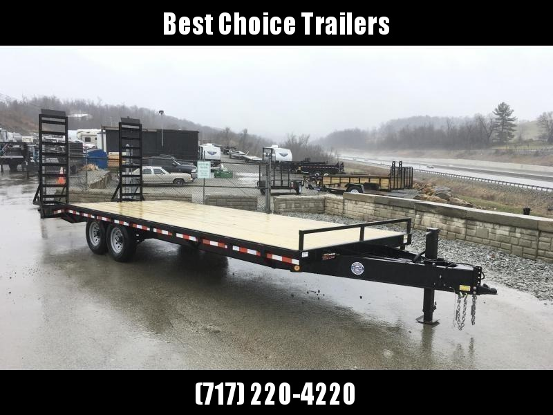 2020 QSA 102x20+4 Beavertail Flatbed Deckover Trailer 13600# GVW