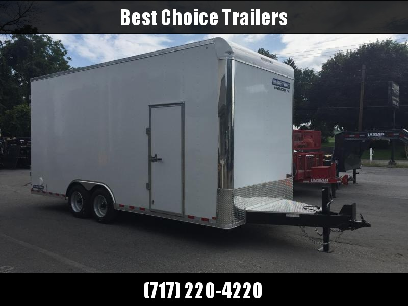 Sure-Trac 8.5x20' Enclosed Contractor Pro 16000# GVW * GEOPROBE TRAILER * DESIGNED FOR HAULING SKIDSTEER OR SIMILAR INSIDE * 8K AXLE UPGRADE