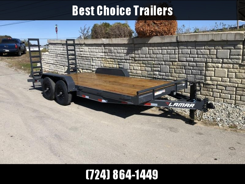 2020 Lamar 7x18' Equipment Trailer 14000# GVW * Stand Up ramps * 16