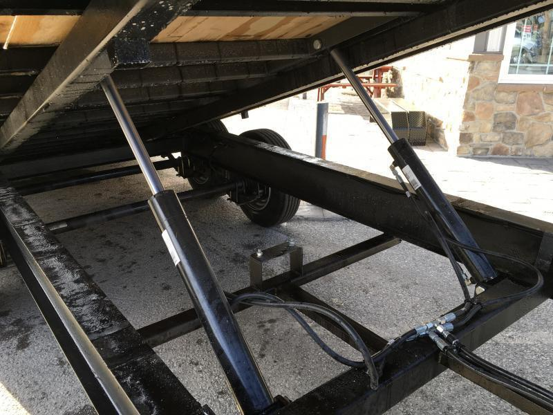 2020 Sure-Trac 102x22' Gooseneck Power Tilt Deckover 15000# GVW * WINCH PLATE * OAK DECK