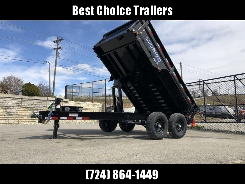 "2019 Load Trail 7x12' Dump Trailer 14000# GVW * 12K JACK * 3-WAY GATE * 8"" I-BEAM FRAME * TARP KIT * SCISSOR HOIST * 6"" TUBE BED FRAME * 110V CHARGER * ADJUSTABLE COUPLER * 10GA 2PC SIDES/FLOOR * INTEGRATED KEYWAY * POWDER PRIMER * CLEARANCE"