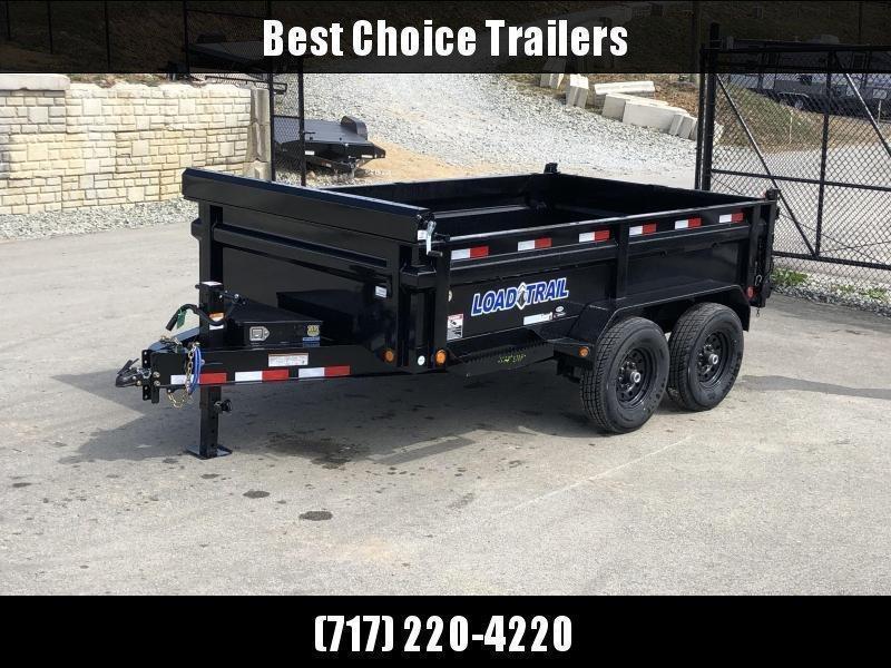 """2019 Load Trail 7x12' Dump Trailer 14000# GVW * DT8312072 * 8"""" I-BEAM FRAME * 12K JACK * 3-WAY GATE * TARP KIT * SCISSOR HOIST * 10GA 2PC SIDES & FLOOR * 6"""" TUBE BED FRAME * 110V CHARGER * DEXTER'S * 2-3-2 * POWDER PRIMER"""