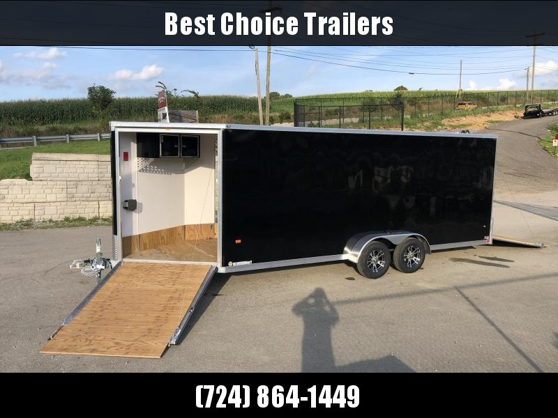 2020 Neo 7x26' Aluminum Enclosed All-Sport Trailer * 7' HEIGHT - UTV PKG * BLACK * FRONT RAMP * LOADED * UTV * ATV * Motorcycle * Snowmobile
