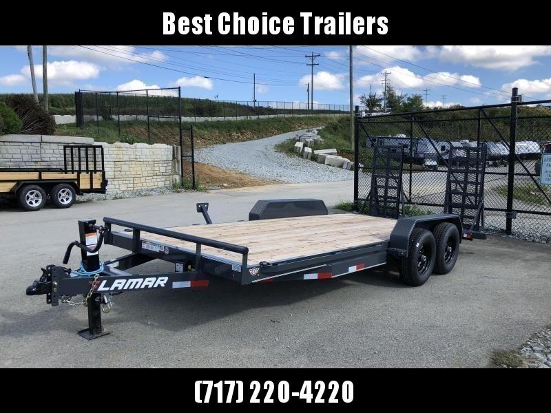 2020 Lamar 7x18' CC10 Equipment Trailer 9990# GVW - CHARCOAL * DELUXE RAMPS * 12K DROPLEG JACK