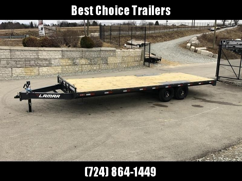 2020 Lamar F8 102x20' Flatbed Deckover Trailer 14000# GVW * CHARCOAL * 8' SLIDE IN RAMPS * SPARE TIRE & MOUNT
