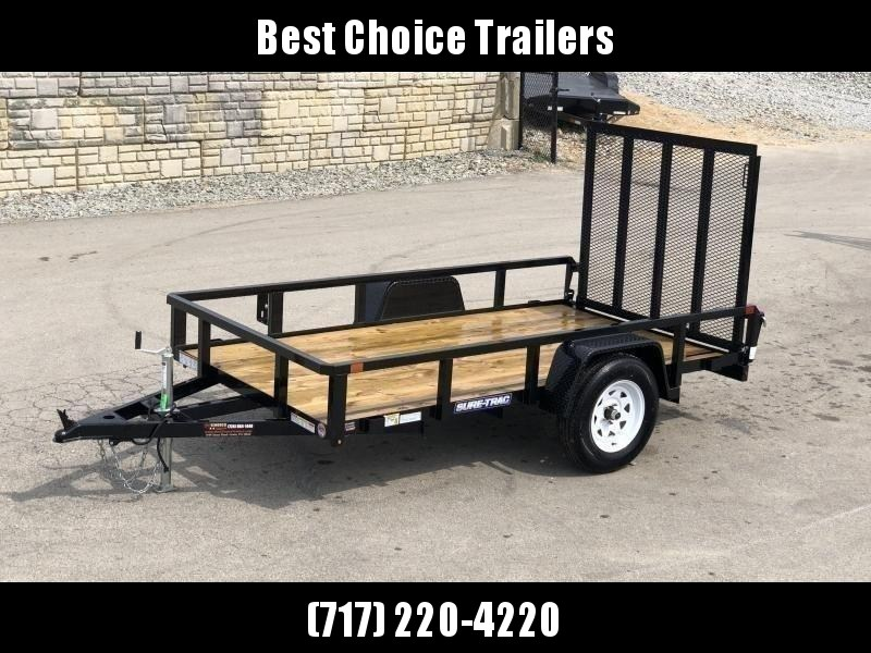 "2020 Sure-Trac 5x8' Tube Top Utility Landscape Trailer 2990# GVW * 2"" TUBE TOP RAIL * 2X2"" TUBE GATE C/M + SPRING ASSIST + FOLD FLAT * TOOLESS GATE REMOVAL * SPARE MOUNT * PROTECTED WIRING * SET BACK JACK * TRIPLE TUBE TONGUE * STAKE POCKETS * BULLET LED'"