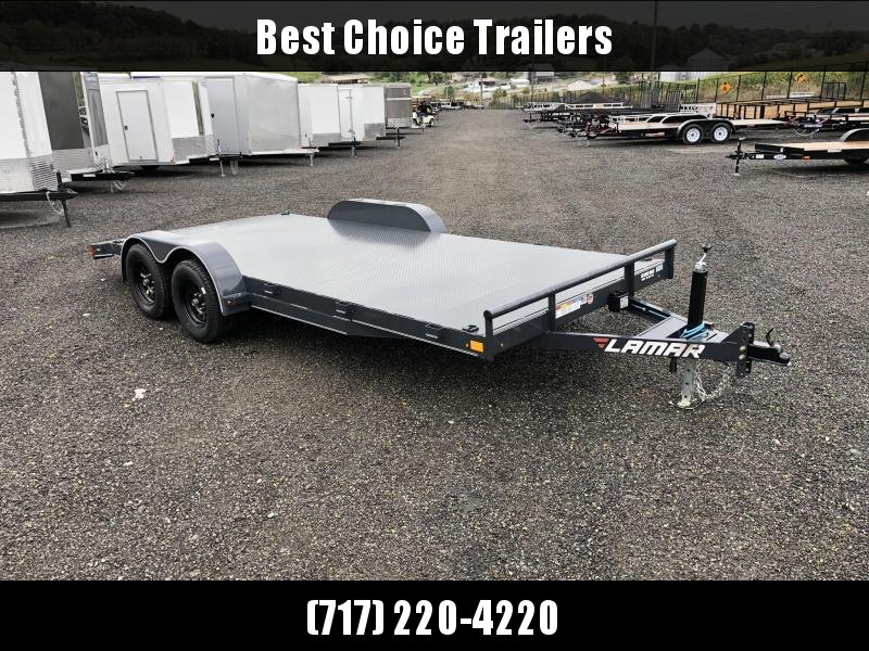 2019 Lamar 7x18' Steel Deck Car Trailer 7000# GVW * 11GA STEEL DECK * CHARCOAL * CLEARANCE