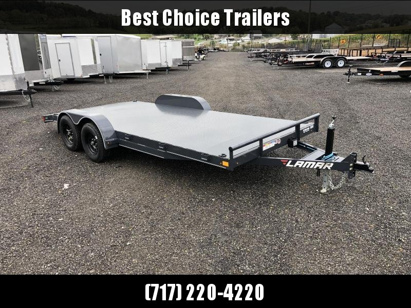 2019 Lamar 7x18' Steel Deck Car Trailer 7000# GVW * 11GA STEEL DECK * CHARCOAL