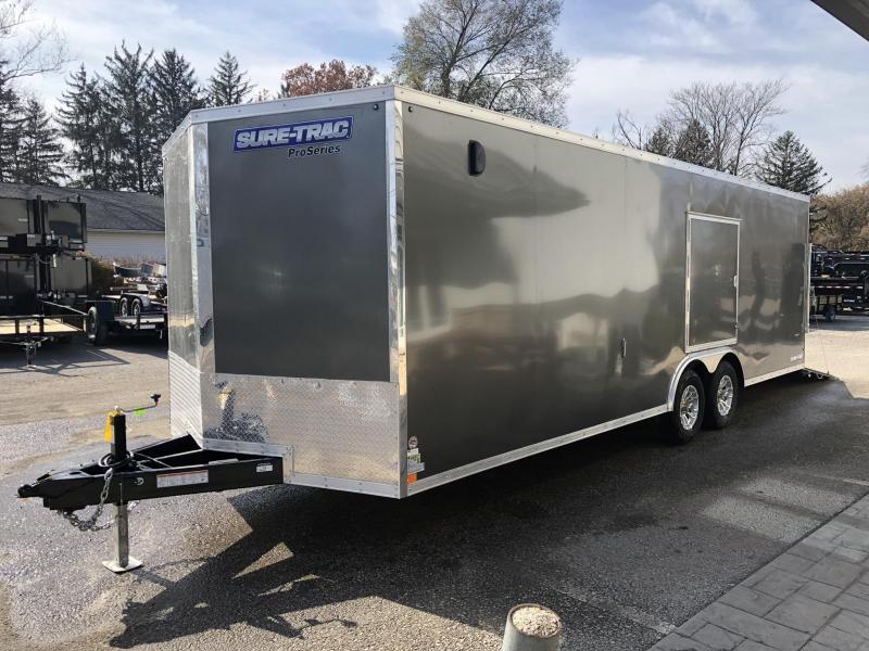 "2020 Sure-Trac 8.5x24' Enclosed Car Trailer 9900# GVW * DELUXE * CHARCOAL * 7K JACK * ESCAPE HATCH * FINISHED WALLS * NUDO FLOOR & RAMP * TORSION * 48"" DOOR & MORE"