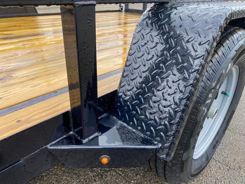 "2020 Sure-Trac 7x14' ATV Utility Landscape Trailer 2990# GVW * 2"" TUBE TOP RAIL * ATV RAMPS * FULL WRAP TONGUE * 2X2"" TUBE GATE C/M + SPRING ASSIST + FOLD FLAT * SPARE MOUNT * PROTECTED WIRING * SET BACK JACK * TRIPLE TUBE TONGUE * STAKE POCKETS * BULLET"