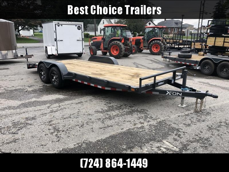 2019 X-On 7x20' Car Hauler Trailer 9990# GVW * CHARCOAL * CLEARANCE