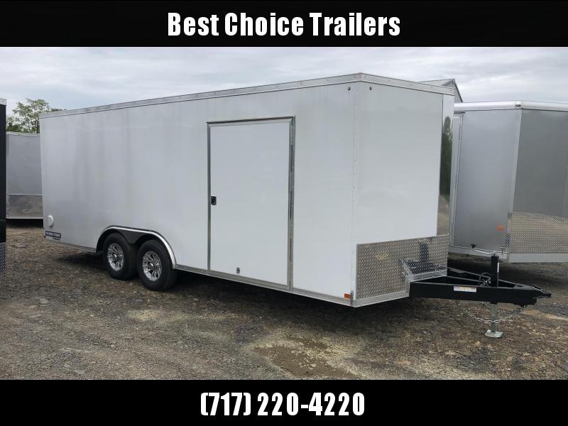 2019 Sure-Trac 8.5x20' Enclosed Car Trailer 9900# GVW * WHITE * HO DOME LIGHT