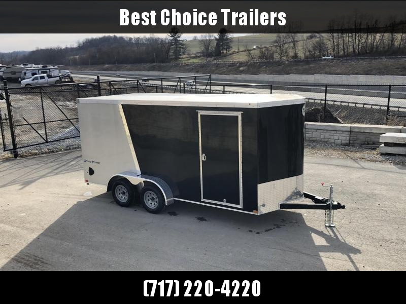 "2019 Wells Cargo 7x16' Road Force Enclosed Motorcycle Trailer 7000# GVW * CHARCOAL * RAMP DOOR * V-NOSE * .030 * 1 PC ALUM ROOF * 6'6"" HEIGHT * TUBE STUDS * SCREWLESS * ARMOR GUARD * MOTORCYCLE PACKAGE"