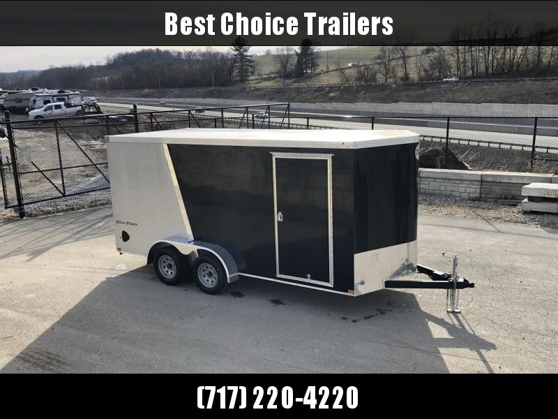 """2019 Wells Cargo 7x16' Road Force Enclosed Motorcycle Trailer 7000# GVW * CHARCOAL * RAMP DOOR * V-NOSE * .030 * 1 PC ALUM ROOF * 6'6"""" HEIGHT * TUBE STUDS * SCREWLESS * ARMOR GUARD * MOTORCYCLE PACKAGE"""
