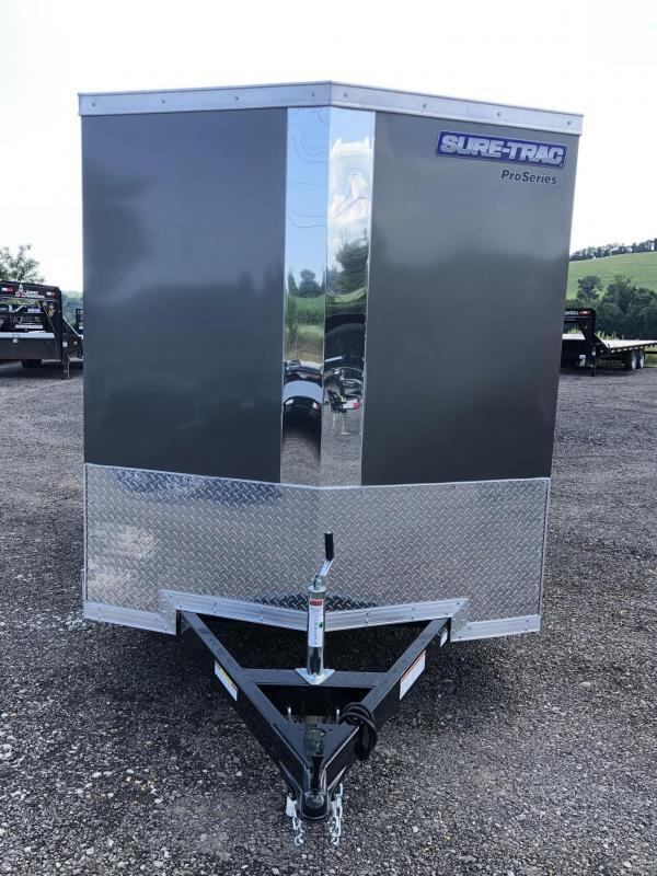 2020 Sure-Trac 6x10' STW Enclosed Cargo Trailer 2990# GVW * CHARCOAL * RAMP DOOR