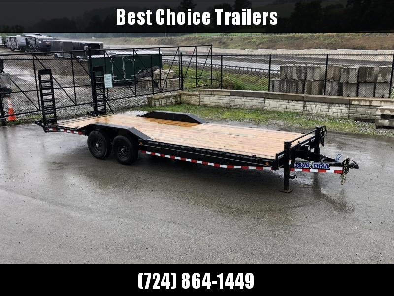 "2019 Load Trail 102x24' Equipment Trailer 14000# GVW * 102"" DECK * DRIVE OVER FENDERS * 8"" TONGUE & FRAME * DUAL JACKS * STAND UP RAMPS * RUBRAIL * DEXTER'S * 2-3-2 * POWDER PRIMER"