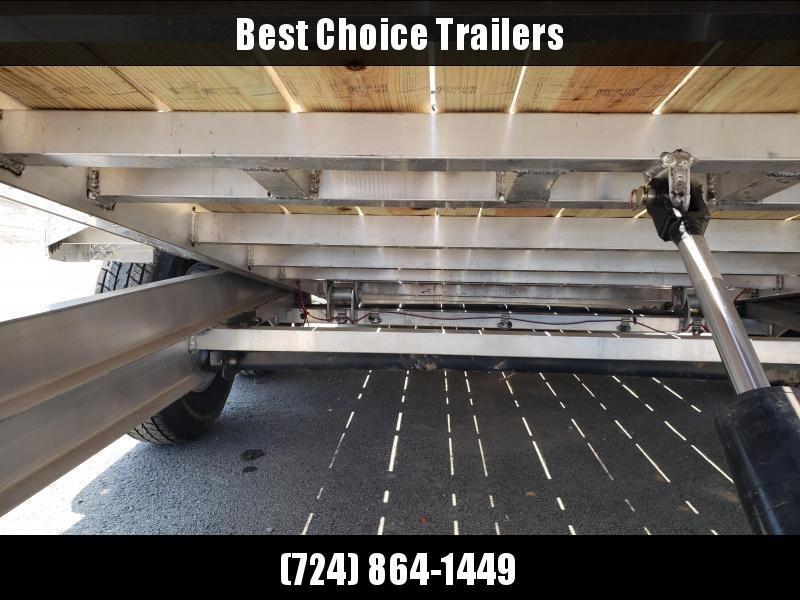 2020 Ironbull 7x16+4 Aluminum Gravity Tilt Equipment Trailer 14000# * ALUMINUM * TORSION * STOP VALVE * ALUMINUM WHEELS