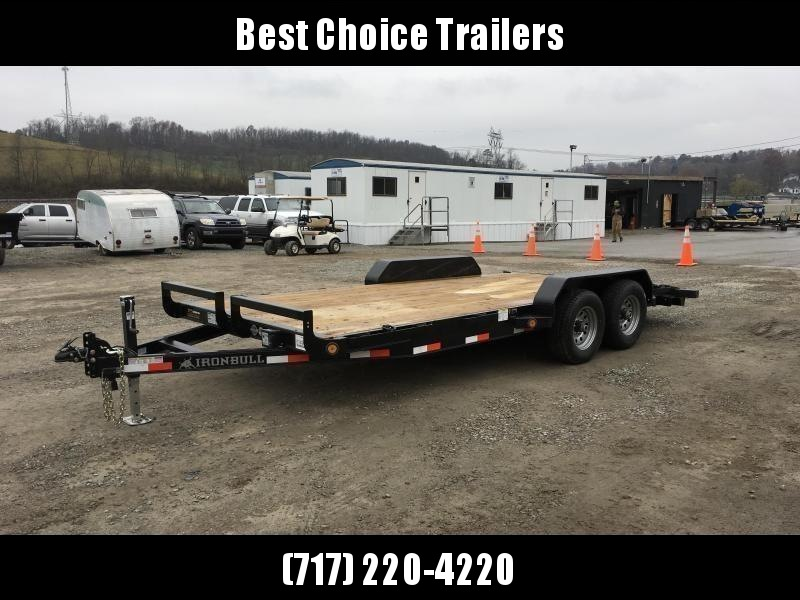"""2019 Ironbull 7x16' Wood Deck Car Hauler Trailer 9990# GVW * OVERWIDTH RAMPS * 16"""" O.C. FLOOR * CHANNEL C/M * RUBRAIL/STAKE POCKETS/PIPE SPOOLS/D-RINGS * CLEARANCE"""