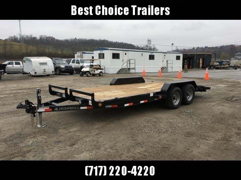 """2019 Ironbull 7x16' Wood Deck Car Hauler Trailer 9990# GVW * OVERWIDTH RAMPS * 16"""" O.C. FLOOR * CHANNEL C/M * RUBRAIL/STAKE POCKETS/PIPE SPOOLS/D-RINGS"""