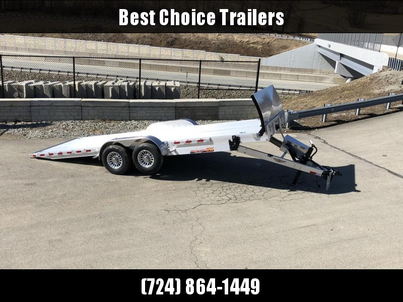 2019 H&H 7x22' Aluminum Power Tilt Equipment Trailer 14000# GVW * DELUXE * TORSION * ROCK GUARD * EXTRUDED FLOOR *  4 SWIVEL D-RINGS * 4 EXTRA STAKE POCKETS * TOOLBOX * LOADED
