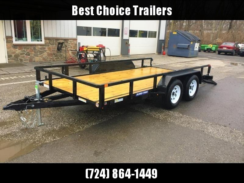 "2019 Sure-Trac 7x18' Tube Top Utility Landscape Trailer 7000# GVW * 3x4"" ANGLE FRAME * 2"" TUBE TOP RAIL * 2X2"" TUBE GATE C/M + SPRING ASSIST + FOLD FLAT * TOOLESS GATE REMOVAL * SPARE MOUNT * PROTECTED WIRING * SET BACK JACK * TRIPLE TUBE TONGUE * CLEARAN"