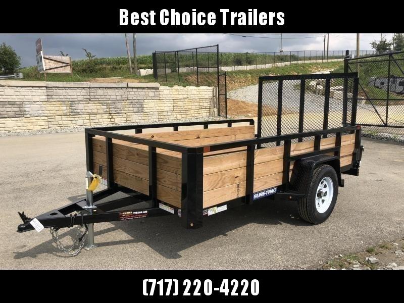 2020 Sure-Trac 6x10' Tube Top 3-Board High Side Utility Trailer 2990# GVW