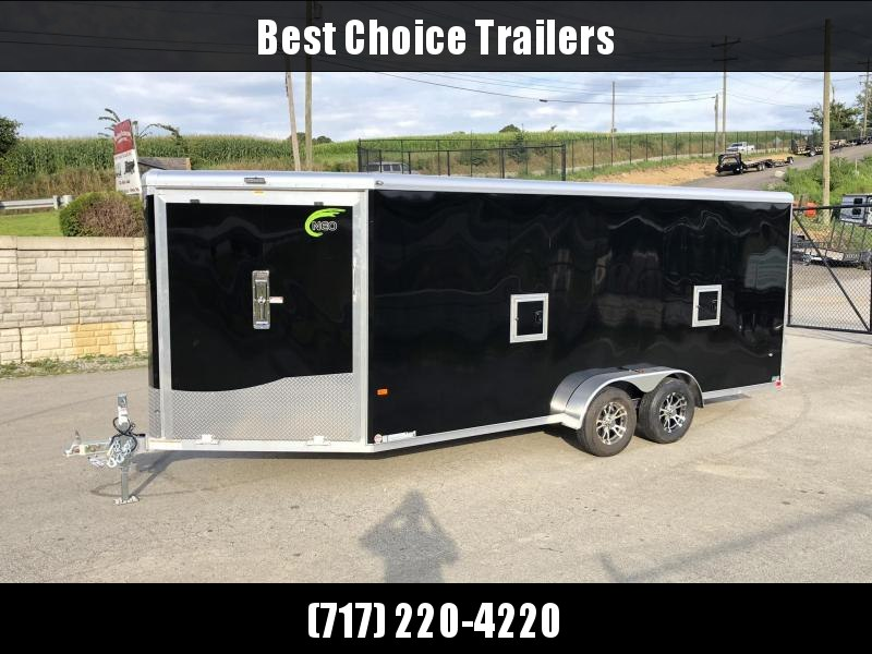 "2020 Neo 7x22' NASR Deluxe Aluminum Enclosed All-Sport Trailer 7000# GVW * BLACK EXTERIOR * 7' HEIGHT UTV PKG * (2) FUEL DOORS * (3) LOADING LIGHTS * TORSION * VINYL WALLS * ALUMINUM WHEELS * SPORT TIE DOWN SYSTEM * 16"" O.C. FLOOR * PRO STAB JACKS * CABIN"