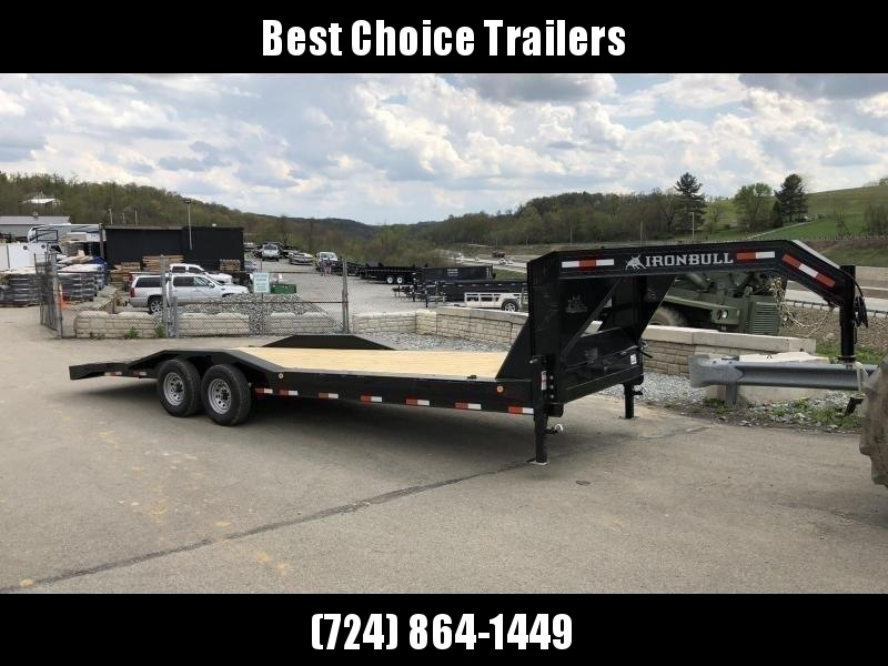 "2020 Ironbull 102x24' Gooseneck Car Hauler Trailer 14000# GVW * 8"" FRAME UPGRADE * FULL WIDTH RAMPS * 102"" DECK * DRIVE OVER FENDERS * DUAL JACKS * FULL TOOLBOX * RUBRAIL/STAKE POCKETS/PIPE SPOOLS/D-RINGS * UNDER FRAME BRIDGE"