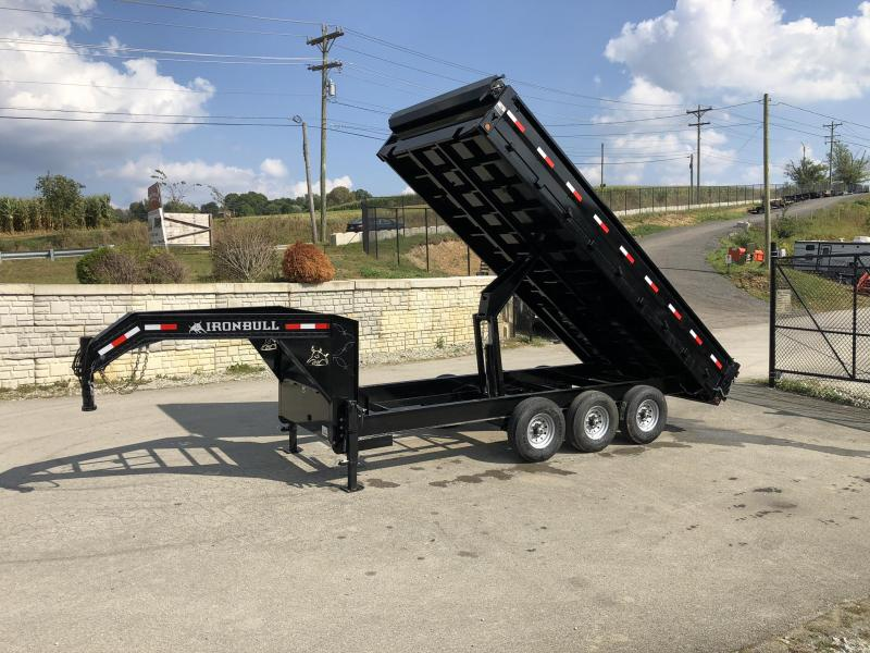 2020 Ironbull Gooseneck Deckover Dump Trailer 8x16' 24000# GVW * TARP KIT * TRIPLE AXLE * 8000# AXLES
