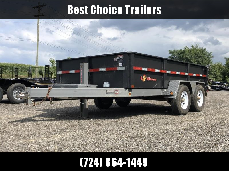 USED 2017 B-Wise 7x12' Dump Trailer * HYDRAULIC JACK * 2-TON PAINT * 3-WAY GATE * UNDERMOUNT RAMPS * CHAIN TRAY