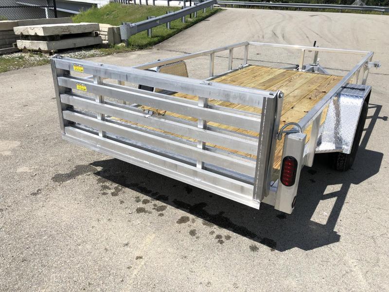 2020 QSA 6x12 Deluxe Aluminum Utility Trailer 2990# * DROP AXLES * HD TOPRAIL * BI-FOLD GATE * INTEGRATED FRAME * TUBE FRAME
